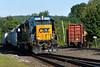 CSX train B740 and NECR train 603 both ease into the yard at MP83. 8/6/2015 - 598C5992dK