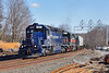 Train AYED is pulling hard up the hill under the new signal tower at Wachusetts Curve just west of Fitchburg, MA. 4/13/2016 - 598C6536dK
