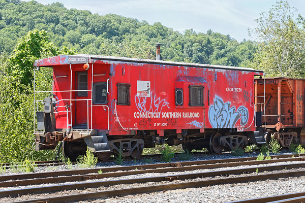 Connecticut Southern caboose in the NECR yard in Palmer, MA. 8/9/2016 - 598C3225dK