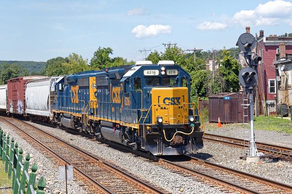 Train B740 coming into the CSX yard at MP83 in Palmer, MA. 8/9/2016 - 598C3182dK