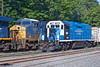 And again, Mass Central meets Q422 light power in the CSX yard at MP83 in Palmer, MA. 7/27/2016 - 598C2163dK