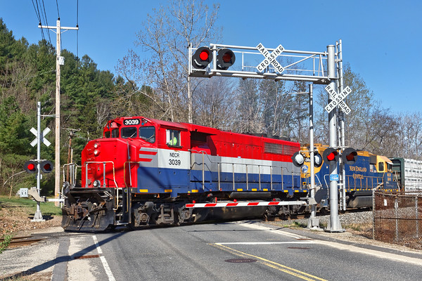NECR freight heads south out of the Palmer, MA yard. 4/24/2016 - 598C7267dK