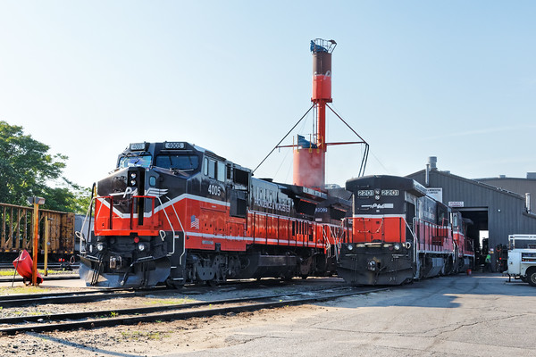 Some of today's power lineup outside of the engine house at the Providence & Worcester Railroad. 7/1/2016 - 598C9848dK