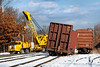 PAS brought in the big yellow hook to re-rail the cars. 12/14/2016 - 598C9226dK