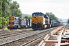 NECR switcher joins Q423 in the CSX yard at MP83. 8/25/2016 - 598C3961dK