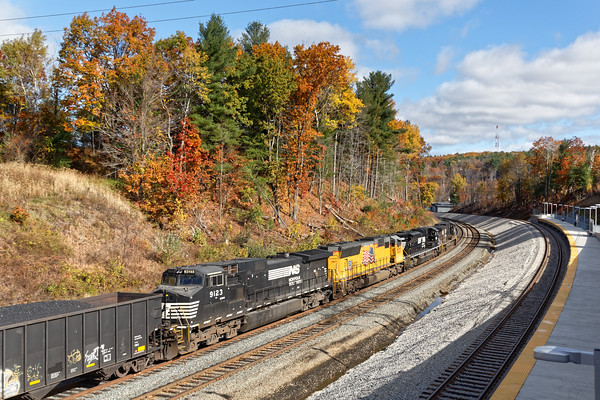 "The platform at the new ""T"" station at Wachusett offers spectacular views of trains going in both directions and it's an easy speed limit drive from Gardner. 10/31/2016 - 598C7228dK"