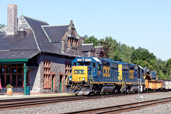 After Q422 cleared, B740 rolled into the yard past the historic Palmer, MA depot. 7/27/2016 - 598C2206dK
