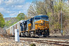 After a week or more of clouds and rain, we're finally getting some sun and the trees are really beginning to look like Spring. At MP83 in Palmer, MA, train Q264 picks it's way through the CSX yard with 3 units and 300 plus axles of auto racks.<br /> 5/9/2016 - 598C7700dK