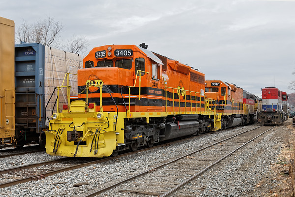 Lots of power in the NECR yard at Palmer MA. 11/15/2016 - 598C7829dK
