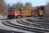 P&W train WOGR preparing to set off in the Gardner, MA yard. 3/9/2016 - 598C4884dK