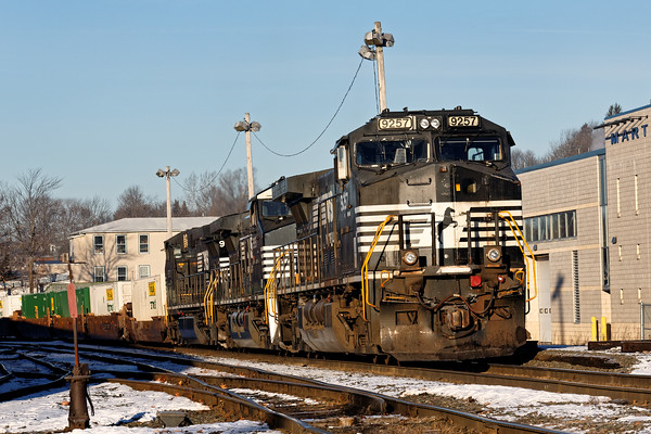 Train 22K had come into the Gardner MA yard on Monday and as of this morning (Tuesday) it still sits idling and crewless. 12/20/2016 - 598C9347dK