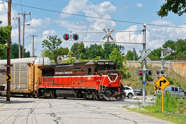 P&W train WOGR backing down into the Gardner, MA yard. 7/12/2016 - 598C0502dK