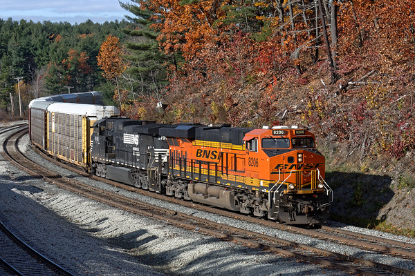 """With perfect light thanks to a brief break in the clouds, I was lucky enough to grab some shots of the same 28N at the new Wachusett """"T"""" station in West Fitchburg.<br /> 11/5/2016 - 598C7470dK"""