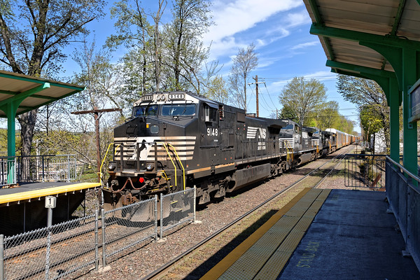 Waiting it's turn to get into Ayer, train 28N is tied down at the new commuter station in North Leominster. 5/10/2016 - 598C7771dK