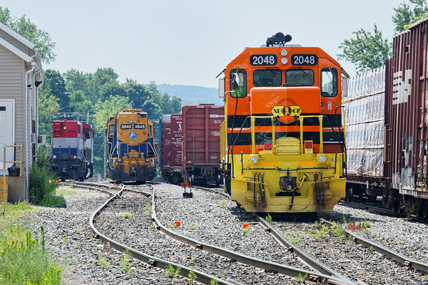Palmer Pumpkins - NECR GP40 #3015 and NECR GP38 #2048 were both working the yard at MP83 in Palmer, MA. 7/18/2016 - 598C0837dK