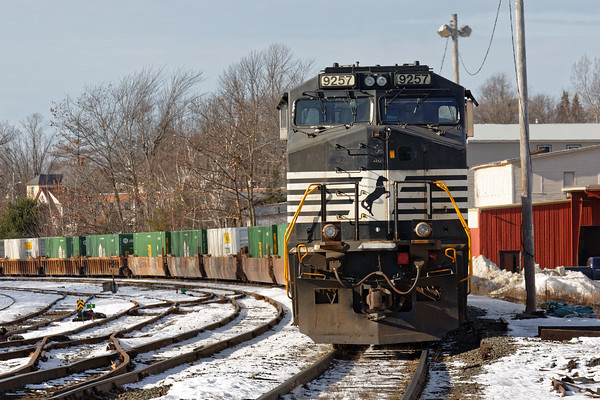 Meanwhile, later in the afternoon back in Gardner, train 22K still sits idling... 12/20/2016 - 598C9428dK