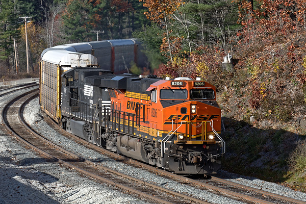 "With perfect light thanks to a brief break in the clouds, I was lucky enough to grab some shots of the same 28N at the new Wachusett ""T"" station in West Fitchburg.<br /> 11/5/2016 - 598C7464dK"