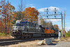 While switching out the cars for the P&W, train 28N made a couple of bobs under the new signal tower at the east end of the Gardner yard.<br /> 10/31/2016 - 598C7278daK