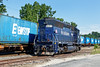 Blue on blue on blue! Pan Am 601 sits on the storage track as AY-1 switches a long drag of Eimskip containers on the east wye. 8/3/2016 - 598C2663dK