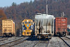 NECR 3845 works the main in the Palmer yard. 11/15/2017 - 598C4458dK