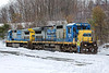 Custom paint job! <br /> Sporting two of the newly acquired CSX units (7517 & 7518), weekend train ED-8 switches in the Gardner MA yard. 3/19/2017 - 598C0794dK