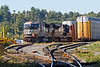 Train 28N works the auto yard in Ayer MA. 10/4/2017 - 598C3992dK