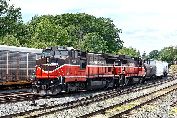 P&W train WOGR switches the  Gardner yard. 6/22/2017 - 598C2520dK