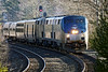 Sporting three units instead of the usual single, Amtrak 449 hits the S-curves at MP60 in Spencer MA. 1/21/2017 - 6V4A0023dK