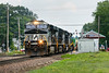 """Train 23K was pulling hard with a couple of balky engines and a two mile long train as it rolled past the """"T"""" station in Shirley MA.<br /> 7/12/2017 - 598C2721dK"""