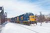 Train B740, the Springfield Local, eases into the CSX yard at MP83 in Palmer MA. 2/14/2017 - 598C0419dK