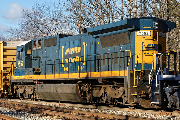 One of PAS's 'new-used' CSX units with the fancy new lettering!<br /> At least they might have hired a graffiti artist...<br /> 1/13/2017 - 598C0211dK