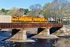 NECR train 603 crossing the bridge at Three Rivers, MA. 4/23/2017 - 598C1535dK