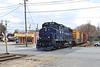 FI-1 on the Heywood Branch crossing Main St., Gardner. 4/19/2017 - 598C1375dK