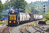 Heat waves!<br /> After picking up freight in Fitchburg, train ED9 eases through the Gardner MA yard on it's way west to East Deerfield.<br /> Once again, summer heat takes it's toll with lots of squiggly lines in long telephoto shots...<br /> 8/9/2017 - 598C3001dK