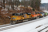 Train 23K coming up the hill at Wachusett. 1/19/2018