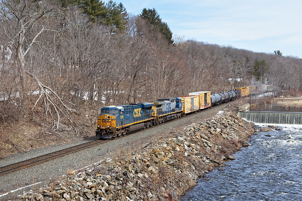 The calm before the NEXT nor'easter...<br /> Q427 runs through mostly snow-less West Warren MA.<br /> 3/20/2018