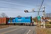 MCER 1750 crosses Rte 32 in South Barre MA.<br /> 11/12/2018