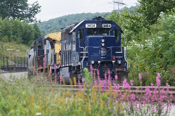 Monday was a busy day on the Pan Am...<br /> Pan Am train EDPO tied down for a crew change at Wachusett.<br /> 8/20/2018