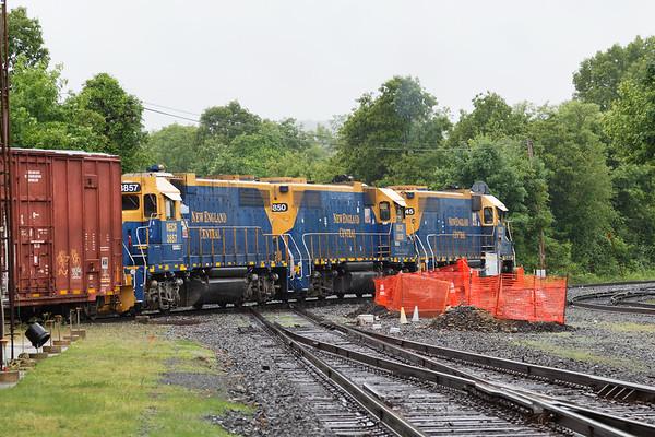 A few hours in the rain in Palmer MA...<br /> Train 608 crossing the diamond at MP83.<br /> 6/4/2018
