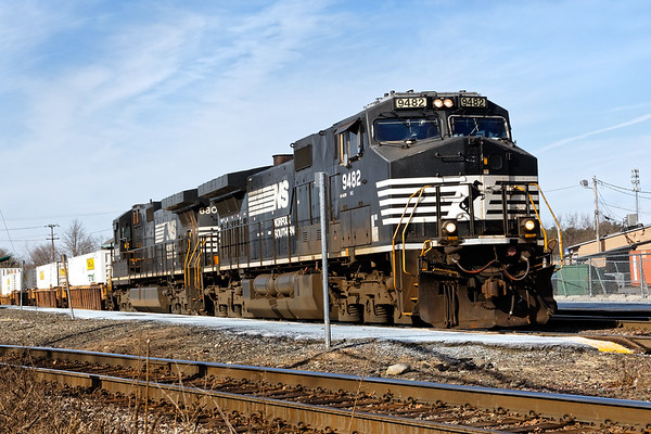Train 22K in the center of Ayer MA. 2/13/2018
