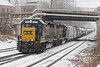 Train B740, the Springfield local, making up it's train in the yard at MP83 in Palmer MA. 1/17/2018