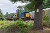 The second half of the grain train comes off the loop track at the milling.<br /> 8/20/2018