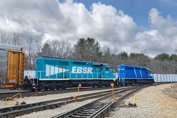 EBSR switching at the entrance to their facility.<br /> 4/17/2018