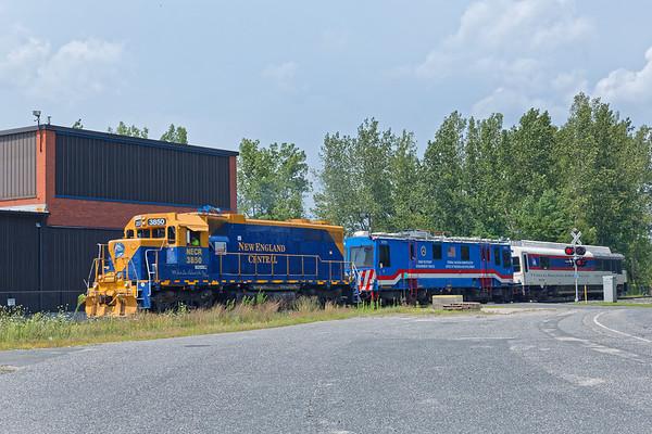 The NECR Geometry Train coming into Monson MA.<br /> 8/7/2018