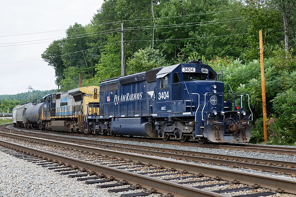 Pan Am train EDPO tied down for a crew change at Wachusett.<br /> 8/20/2018