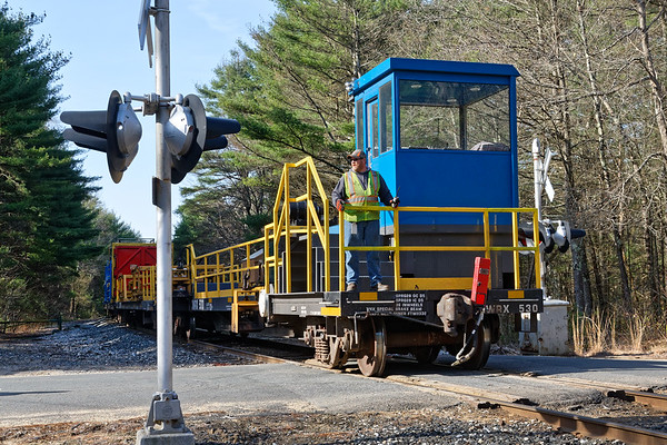 NECR 3405 was on the point of a rail train today working from State Line crossing all the way to Willimantic.<br /> 5/2/2018