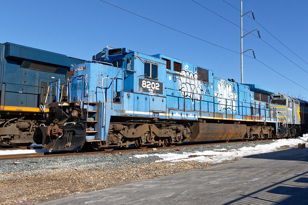 This funky old power which came down on POSE is supposedly being moved from Derby Shops in Maine to LTE for scrapping maybe??<br /> 3/19/2018