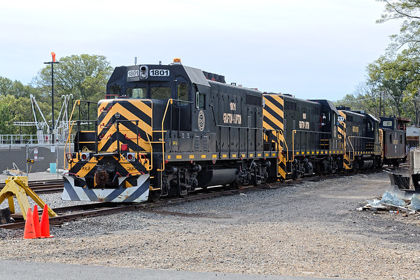 At their yard in Grafton MA, the G&U power lineup lies silent on a Sunday afternoon.<br /> 9/23/2018