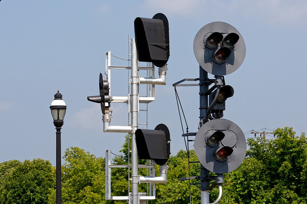 Darth Vader comes to Palmer MA.<br /> The new signals have been mounted at MP83 but they have not been cut in yet and are turned away.<br /> 7/5/2018