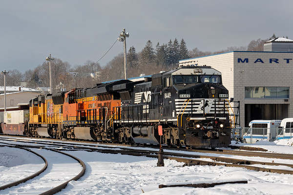 Another interesting consist - train 22K sits in the yard at Gardner waiting for a crew change. 1/19/2018